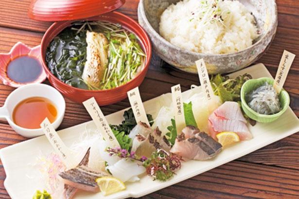 白身の地魚だけを使った「白い海鮮丼」(1944円)/うずしおレストラン