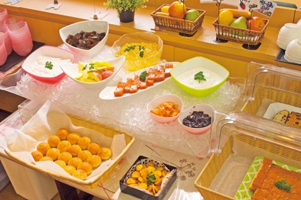「彩誉の羊羹」など、デザートまですべて手作り/泉州やさいのビュッフェ&カフェ