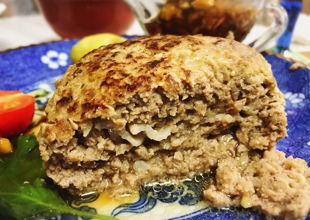 玉ねぎ炒めず牛乳とパン粉も要らない美味しいハンバーグ