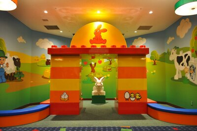 内覧会では「レゴランド・ジャパン・ホテル」のなかのプレイエリアも一部公開された