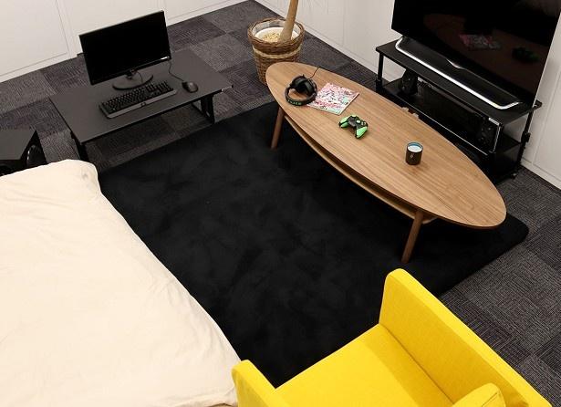 部屋が丸ごとベッドになるラグ「部屋ごとベッドラグ」(税別2万5500円~)が発売