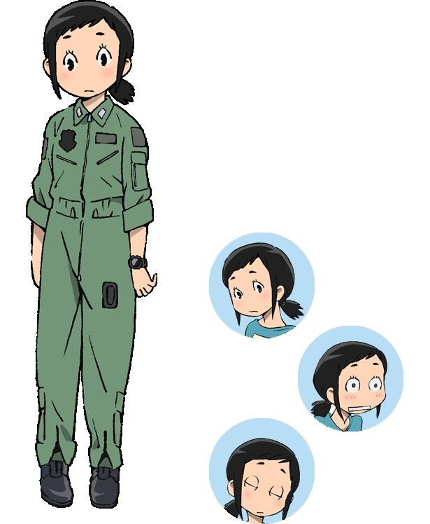 甘粕ひそね(CV:久野美咲)は、航空自衛隊岐阜基地の新人。素直でまじめな性格だが、嘘のつけないあまり、マジな言葉を口にして人を傷つけることが続き、周囲から浮くことを避けている