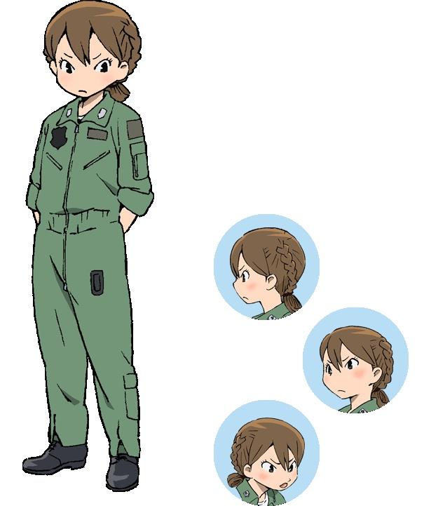 岐阜基地の小柄なDパイ候補生・貝崎名緒(CV:黒沢ともよ)。気の強い性格で、ヤンキーのように喧嘩腰で会話をふっかけるところがある