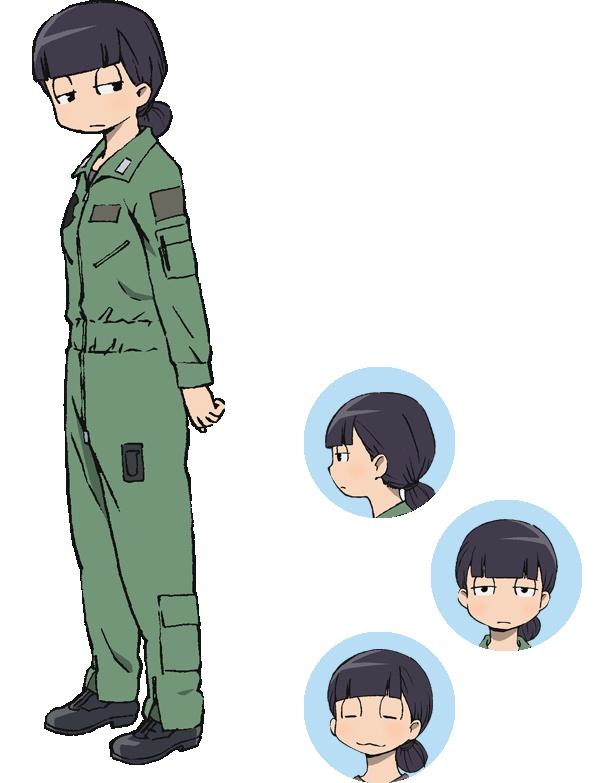 青森県三沢基地のドラゴンパイロット・絹番莉々子(CV:新井里美)は、冷静かつ頭脳派。頭が回りすぎて、万事に最低ラインを先に見極めてしまい、何かとマイナス思考を好む