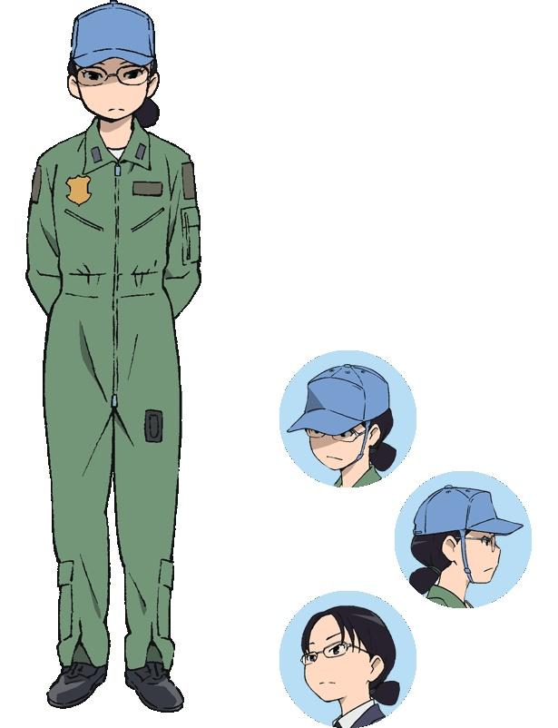 柿保令美(CV:釘宮理恵)は、岐阜基地の飛行班長で、階級は2等空佐。非常に気が強いクールビューティーだが、実は怖がりで泣き上戸