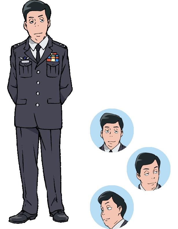岐阜基地に常駐する飛行開発実験団司令・曽々田弘(CV:中田譲治)。階級は空将補