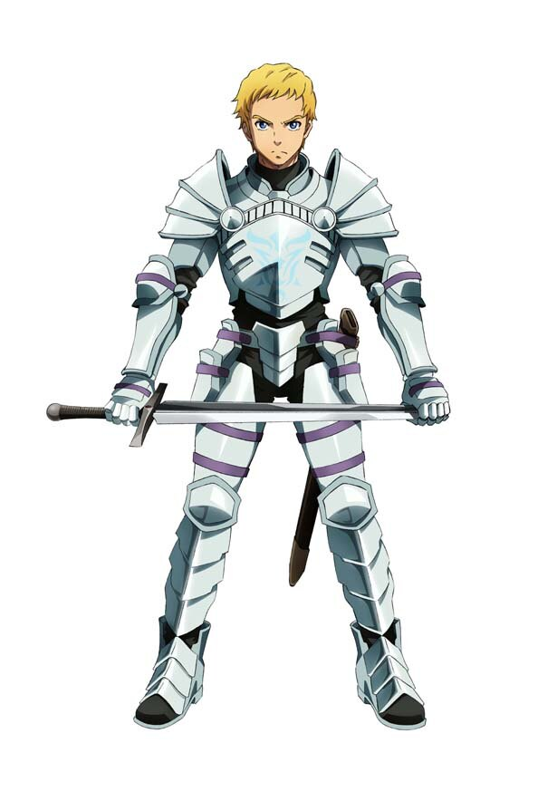 ラナー付きの兵士・クライム(CV:逢坂良太)。主に絶対の忠誠を誓い、ラナーを守るべく独学で訓練を積み重ねているが、剣の才能はない