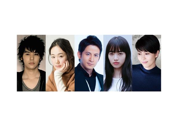 2019年公開予定の映画「来る」に出演する妻夫木聡、黒木華、岡田准一、小松菜奈、松たか子(写真左から)