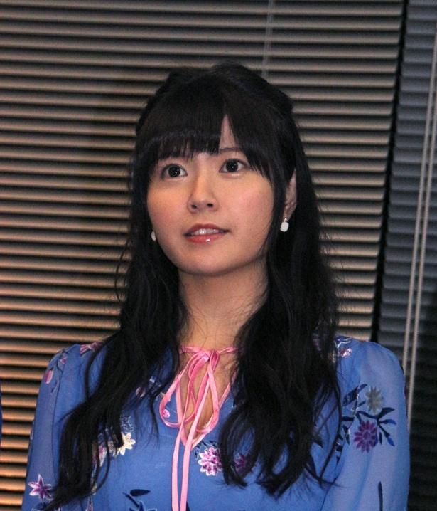 竹達彩奈は「去年の夏ごろに撮影をしたんですけど、半年を経て、ようやく試写をということで、今からとても楽しみです」と語る