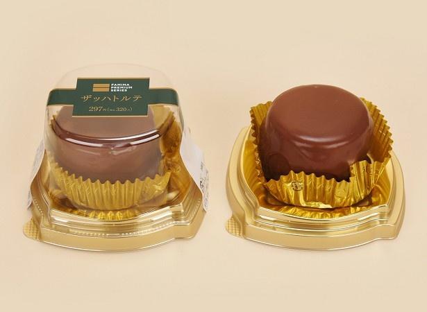フランス産チョコレートをふんだんに使用し、口当たりの良い食感に仕上げた「プレミアム ザッハトルテ」(320円)