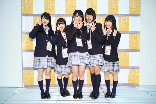 ポートメッセなごやで開催されたSKE48の握手会で、同グループのドラフト3期生のお披露目が行われた