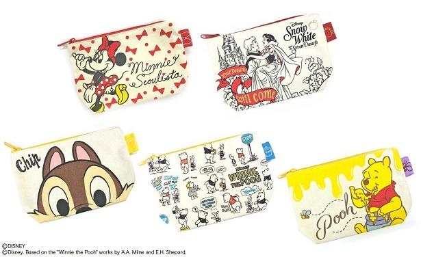 株式会社スモール・プラネットは、グッディポーチの新柄としてディズニーキャラクターを用いた5柄を新発売する