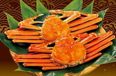 水揚げされたばかりの蟹をそのまま浜茹でにし、新鮮な状態で味わえる