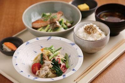 20種以上の野菜を使った定食(櫻や)
