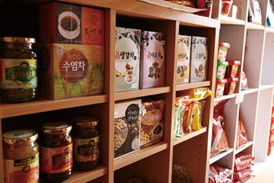韓国食材がいっぱいの「ハノック」