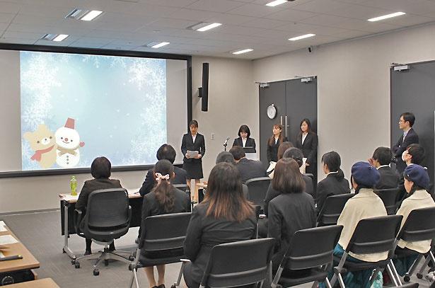 優秀賞に選ばれた、神戸海星女子学院大学の「チーム一尾」