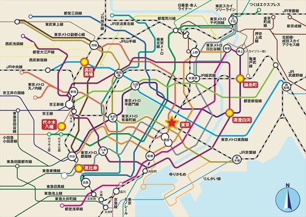 東京駅の南西の方角にある恵比寿では、結婚運や円満運、家庭運などが上がるそうだ