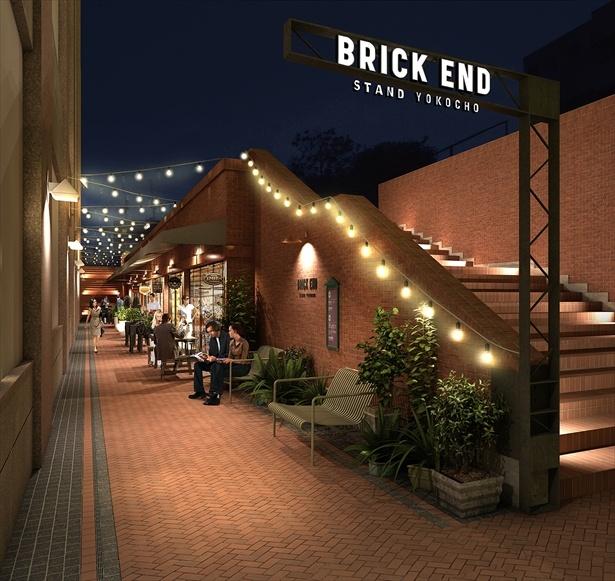 カレーバーやハンバーガースタンドを擁するBRICK END