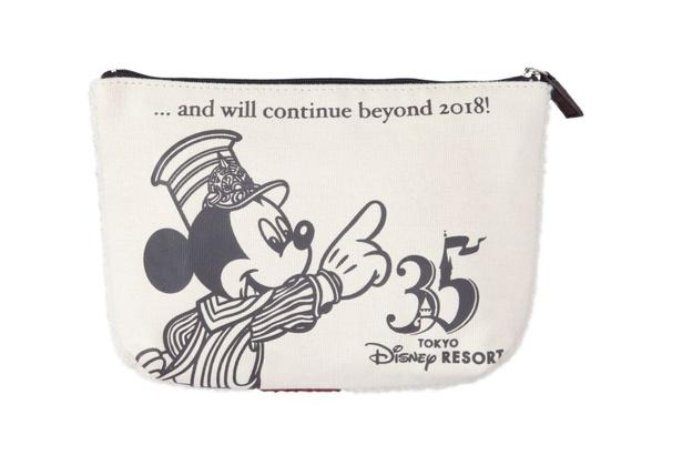 ポーチ(2900円)の表裏は異なるミッキーマウスのイラストになっている