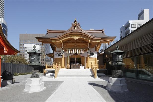 2016(平成28)年4月より新社殿となった水天宮