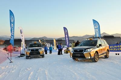 イベント当日はゲレンデにスバルSUVが登場(写真は安比高原スキー場開催時のもの)