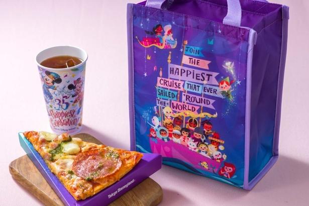 1年間で5種類のピザが登場する「ピッツァ・スモールワールド」を展開。ピザとドリンク、スーベニアランチケースが一緒になった「スペシャルセット」(1660円)