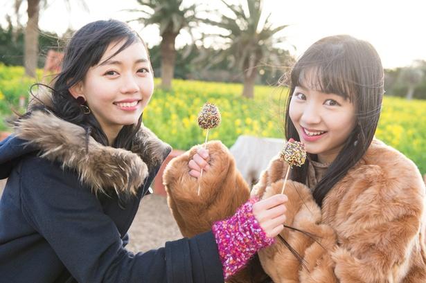 「イチゴが大きくて甘〜い!」(野島)、「何個でも食べられそう♡」(末永)