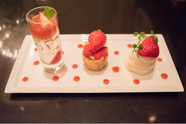 3種苺のデザートプレート