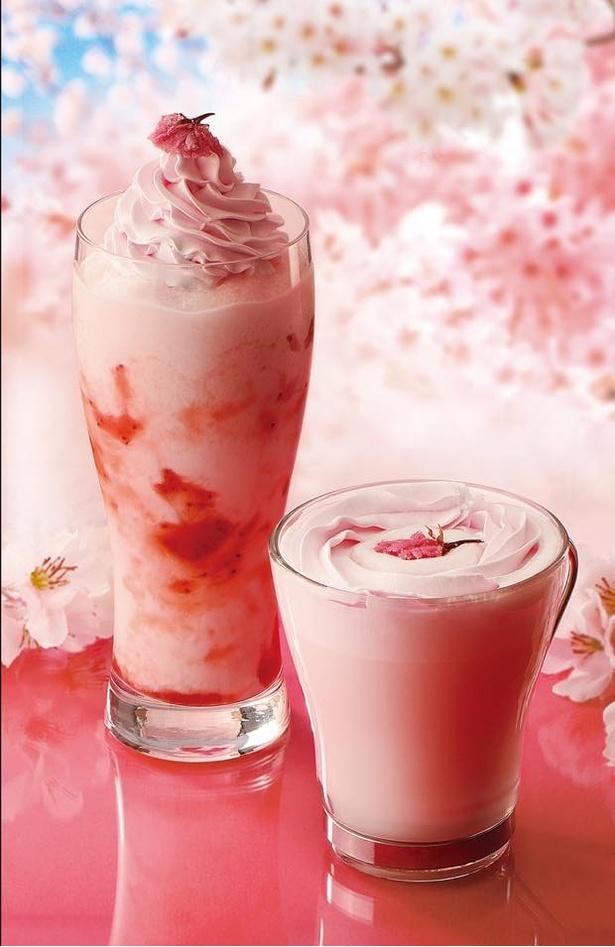 カフェ・ド・クリエから春をお届け!桜ドリンク新登場