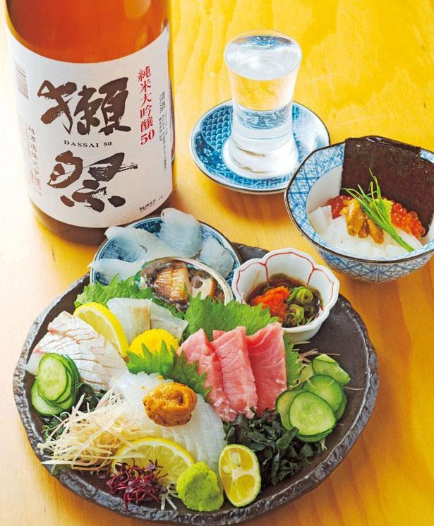 「魚盛り」(1031円)/魚屋スタンドふじ子