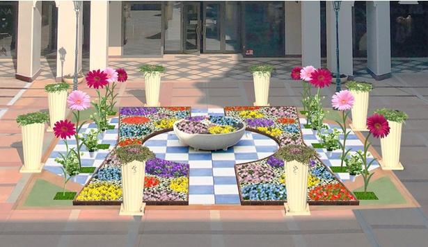 「ガーベラパティオ ~希望の道~」では、生花を使ったフラワーカーペットも!