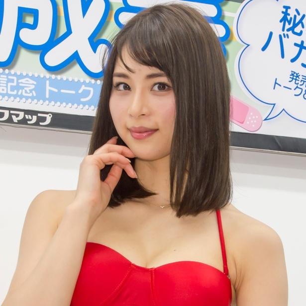 ファーストDVD「秘密のバカンス」発売イベントに登場した山本成美