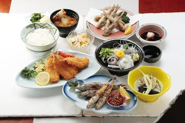 メヒカリの刺身、フライ、焼き物、唐揚げが食べられる