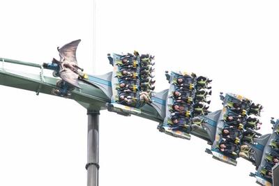 世界最長×最大高低差を、宙づり状態で駆け抜ける/ユニバーサル・スタジオ・ジャパン