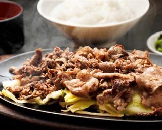 肉の味をシンプルに楽しめる「焼肉定食」(860円)。+320円で肉を大盛り(1.5倍)にできる