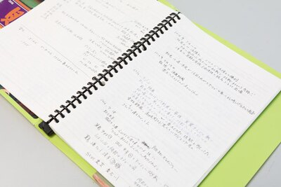 試合の雰囲気をメモしたノート