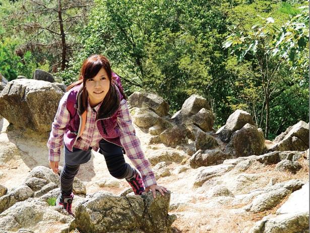 【写真を見る】日本の近代登山発祥の地と言われるロックガーデン/ロックガーデン
