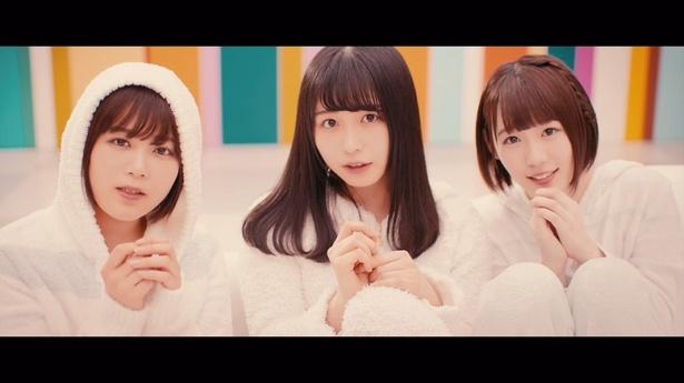 「バスルームトラベル」を担当する尾関梨香、長濱ねる、小池美波(写真左から)
