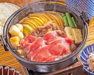 「国産牛すき焼き定食」(1188円)/佰食屋 すき焼き専科