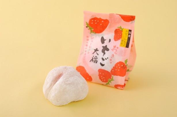 3Lサイズの国産アスカルビーを使った、創作桃菓 桃花亭「おっきないちご大福」