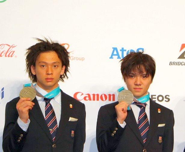 銀メダルコンビ平野歩夢