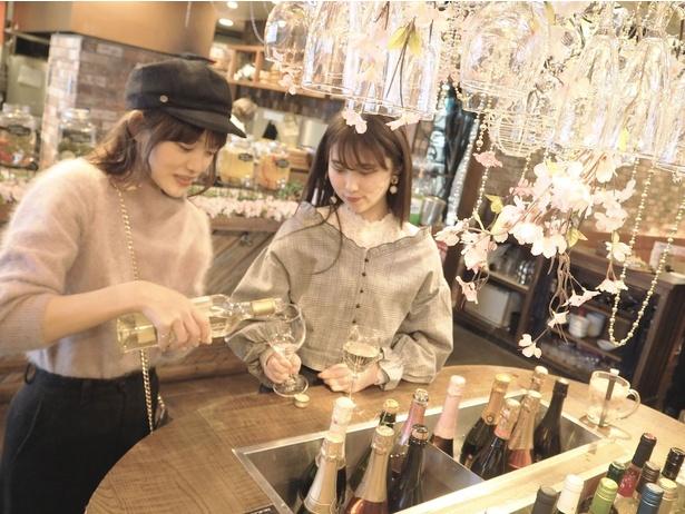 【写真を見る】3000本の桜のシャンデリアで乾杯!「お花見バルESOLA渋谷」期間限定オープン