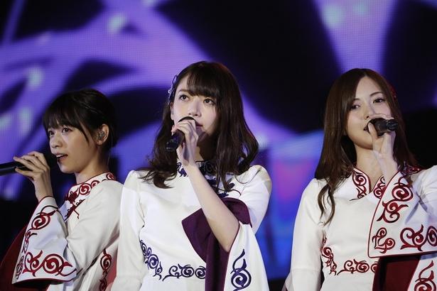 乃木坂46の西野七瀬(左)、昨年芸能界を引退した橋本奈々未(中央)、そして白石麻衣(右)