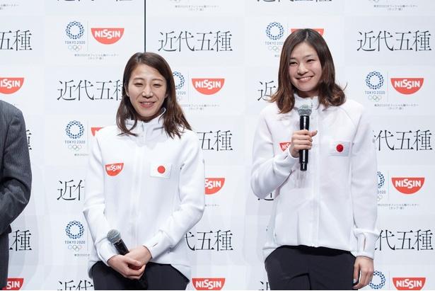 東京五輪での活躍が期待される黒須成美選手(左)と才藤歩夢選手(右)
