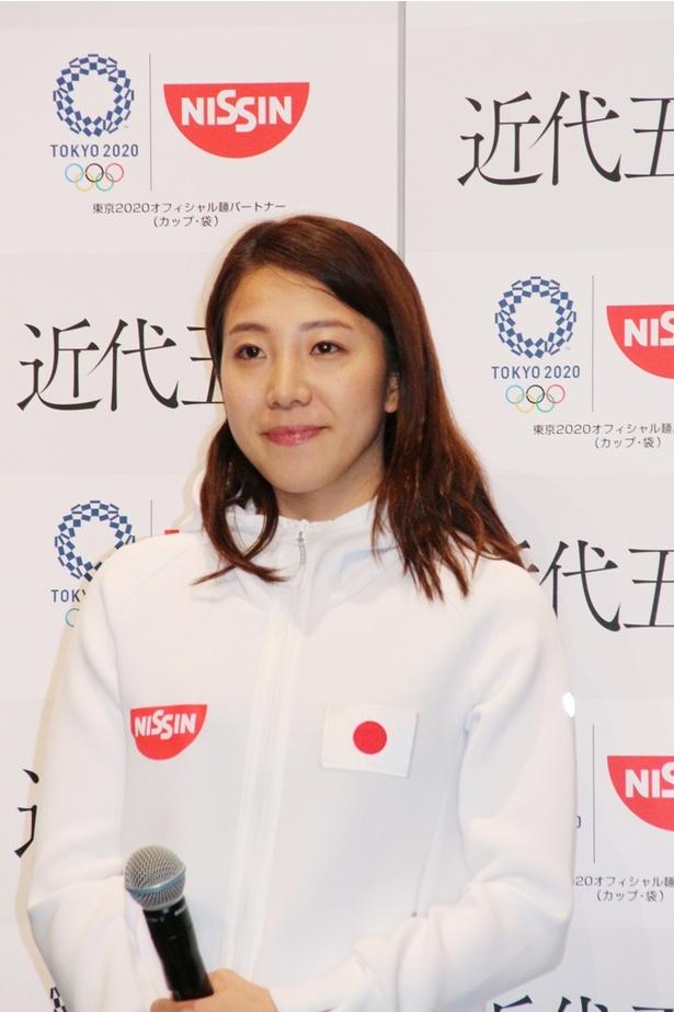 「最後まで勝負の行方が分からないところが『近代五種』の魅力」だと明かす黒須成美選手