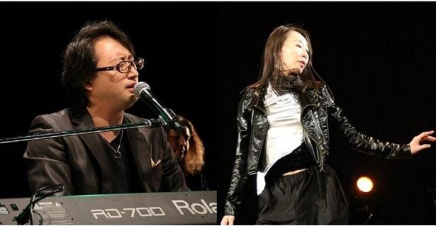 正貴久也(左)と成美智子(右)がCLUB CITTA'で華麗なる競演を果たした