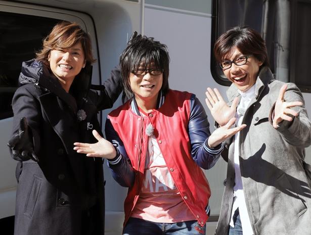 森川智之が森久保祥太郎(写真左)、佐藤拓也(写真右)と遊び尽くす