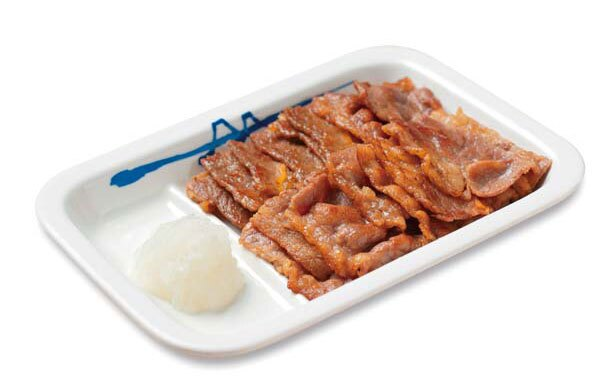 柔らかで贅沢な「カルビ焼肉定食(単品)」(430円)/松屋 梅田角田町店