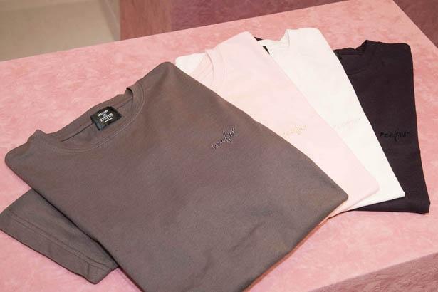 胸元にreefurの刺しゅうが入ったオリジナルTシャツ(税抜5,500円)は カーキが横浜限定カラー