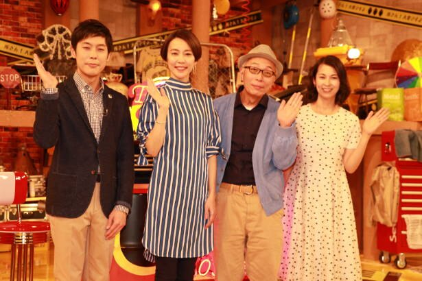 左から井上裕貴アナ、木村佳乃、所ジョージ、久保田祐佳アナ